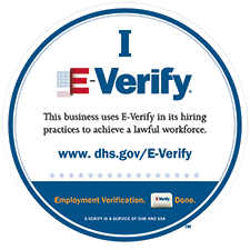 This business uses E-Verify in its hiring process to achieve a lawful workforce